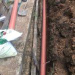 Укладка канализационной трубы к септику в Наро-Фоминске